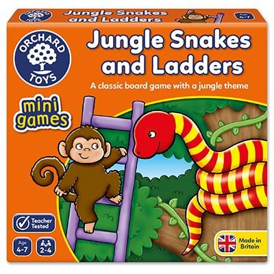Orchard Toys Jungle Snakes & Ladders Mini Game - McGreevy's Toys Direct