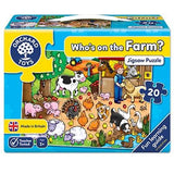 Orchard Toys Who's on the Farm? Jigsaw - McGreevy's Toys Direct