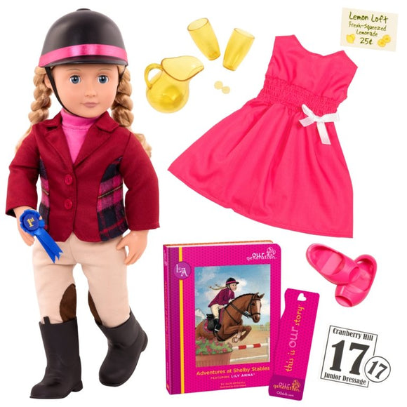Our Generation Lily Anna Doll with Book - McGreevy's Toys Direct