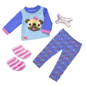 Our Generation Pug-jama Party Outfit - McGreevy's Toys Direct