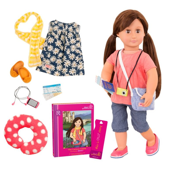 Our Generation Reese Doll with Book - McGreevy's Toys Direct