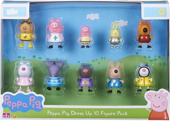 Peppa Pig Dress up 10 Figure Pack - McGreevy's Toys Direct
