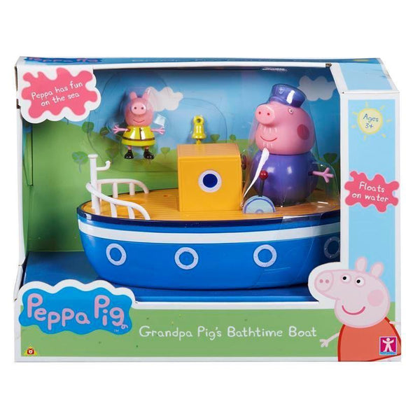 Peppa Pig Grandpa Pig's Bathtime Boat - McGreevy's Toys Direct