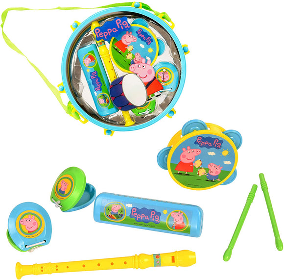 Peppa Pig Pack Away Drum with Instruments - McGreevy's Toys Direct