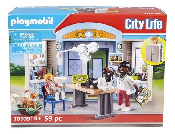 PLAYMOBIL 70309 Vet Clinic Play Box - McGreevy's Toys Direct