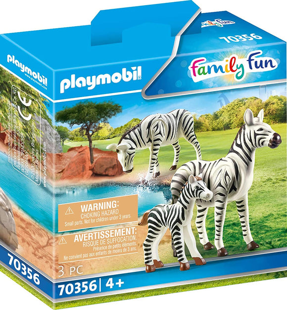 PLAYMOBIL 70356 Zebras with Foal - McGreevy's Toys Direct
