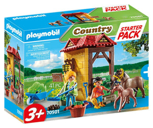 PLAYMOBIL 70501 Starter Pack Horse Farm - McGreevy's Toys Direct
