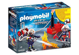 PLAYMOBIL 9468 Firefighters with Water Pump - McGreevy's Toys Direct