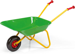 Rolly Metal Wheelbarrow Green/Yellow - McGreevy's Toys Direct