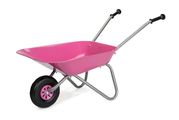 ROLLY Metal Wheelbarrow Pink - McGreevy's Toys Direct