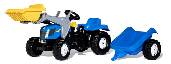 ROLLY New Holland Ride-On Tractor with Trailer - McGreevy's Toys Direct