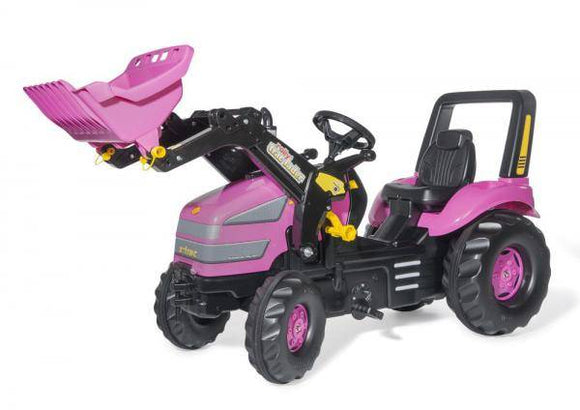 ROLLY Pink X-Trac Tractor with Front Loader - McGreevy's Toys Direct