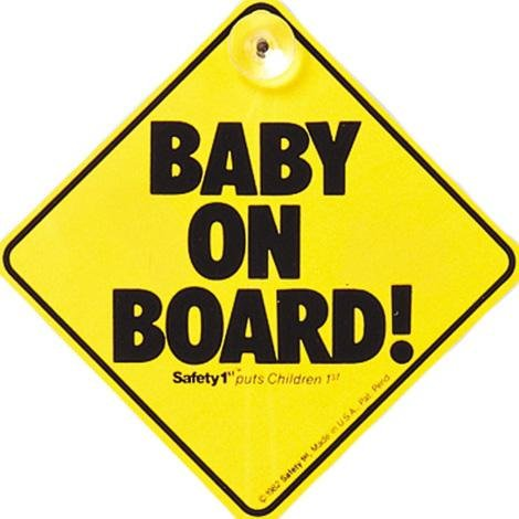 Safety 1st Baby On Board Sign - McGreevy's Toys Direct