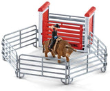 SCHLEICH 41419 Bull Riding with Cowboy - McGreevy's Toys Direct