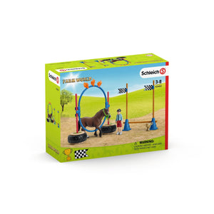 SCHLEICH 42482 Pony Agility Race - McGreevy's Toys Direct