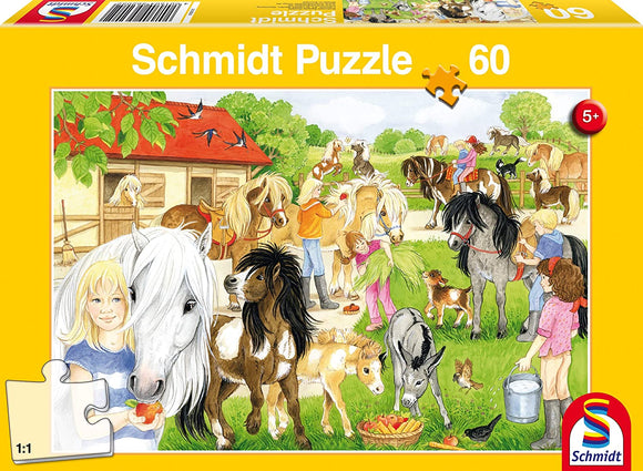 Schmidt Puzzle Fun at the Riding Stables Jigsaw Puzzle (60 Piece) - McGreevy's Toys Direct