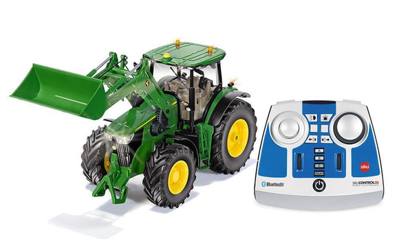 Siku 6795 John Deere 7310R with Front Loader 1:32 - Remote Controlled & Bluetooth App - McGreevy's Toys Direct