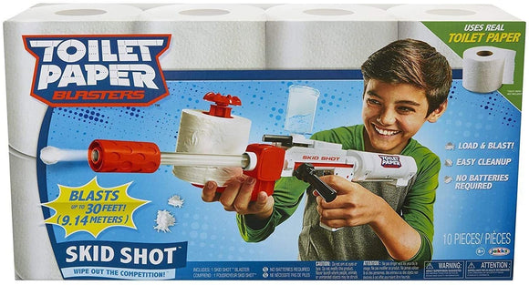 Skid Shot Toilet Paper Blaster - McGreevy's Toys Direct
