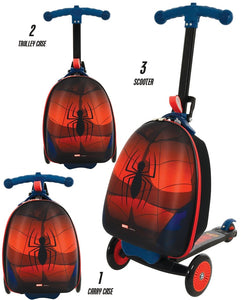 Spiderman 3-in-1 Scootin' Suitcase - McGreevy's Toys Direct