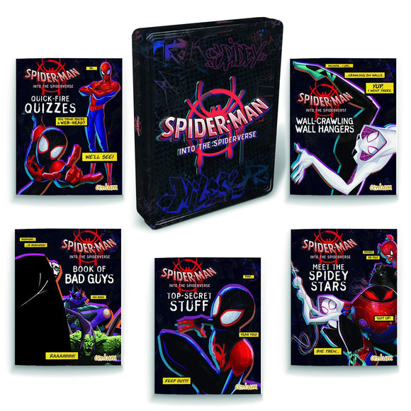 Spiderman: Into the Spider-verse Tin of Books - McGreevy's Toys Direct