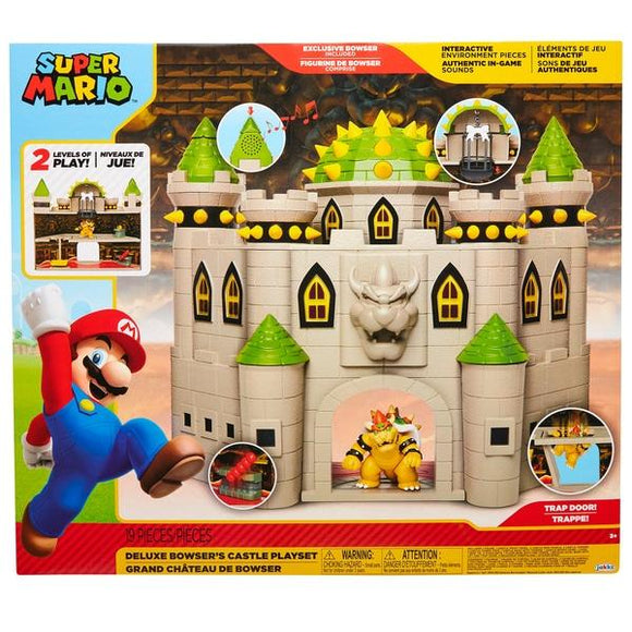 Super Mario Deluxe Bowser's Castle Playset - McGreevy's Toys Direct