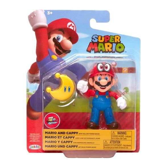 Super Mario Mario & Cappy Action Figure - McGreevy's Toys Direct