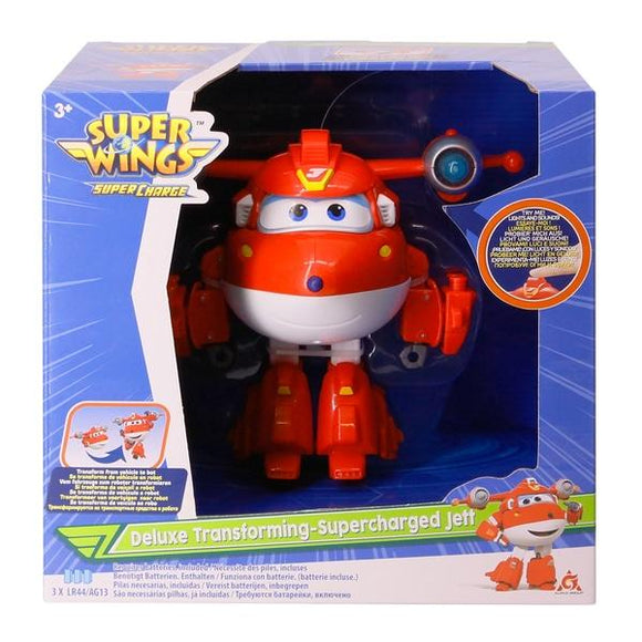 Super Wings Deluxe Transforming Supercharged Jett - McGreevy's Toys Direct