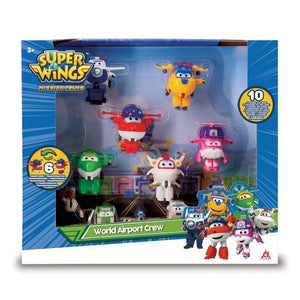 Super Wings World Airport Crew 10 Pack - McGreevy's Toys Direct