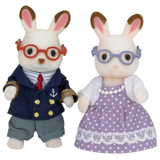 Sylvanian Families Chocolate Rabbit Grandparents - McGreevy's Toys Direct