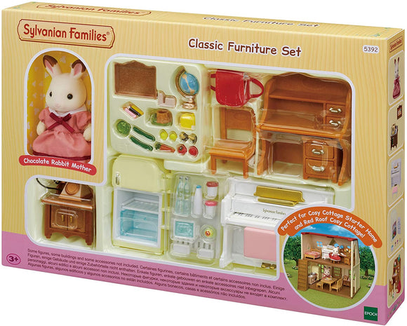 Sylvanian Families Classic Furniture Set for Cosy Cottage - McGreevy's Toys Direct
