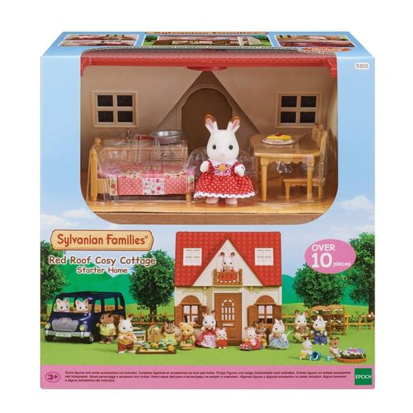 Sylvanian Families Red Roof Cosy Cottage Starter Home - McGreevy's Toys Direct