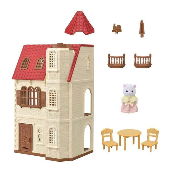 Sylvanian Families Red Roof Tower Home - McGreevy's Toys Direct