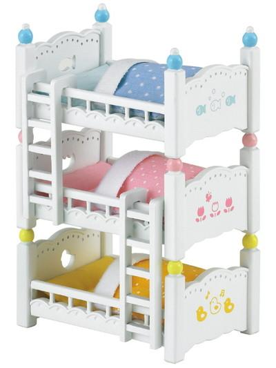 Sylvanian Families Triple Bunk Beds - McGreevy's Toys Direct