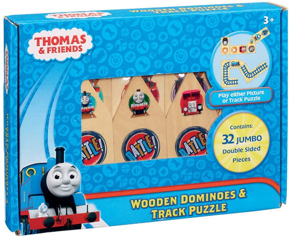 Thomas & Friends Wooden Dominoes & Track Puzzle - McGreevy's Toys Direct