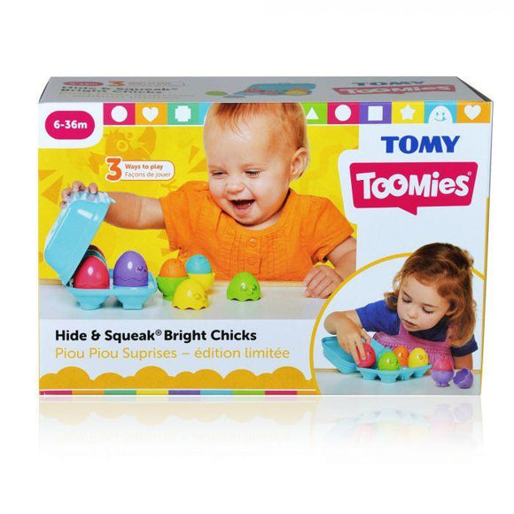 Tomy Toomies Hide & Squeak Bright Chicks - McGreevy's Toys Direct