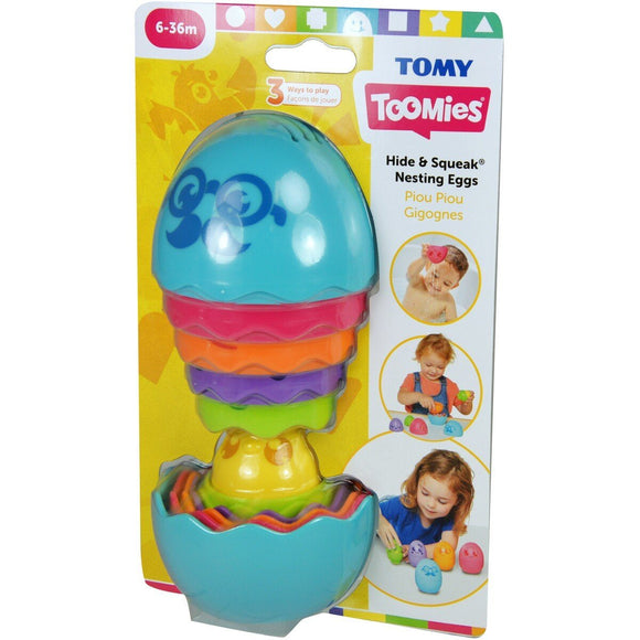 Tomy Toomies Hide & Squeak Nesting Eggs - McGreevy's Toys Direct