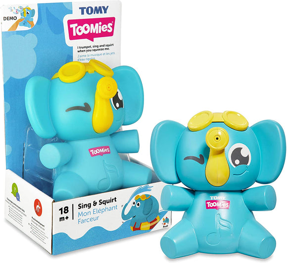 TOMY Toomies Sing & Squirt Elephant - McGreevy's Toys Direct