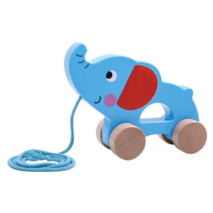 TOOKY TOY Pull Along Elephant - McGreevy's Toys Direct