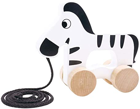 TOOKY TOY Pull Along Zebra - McGreevy's Toys Direct