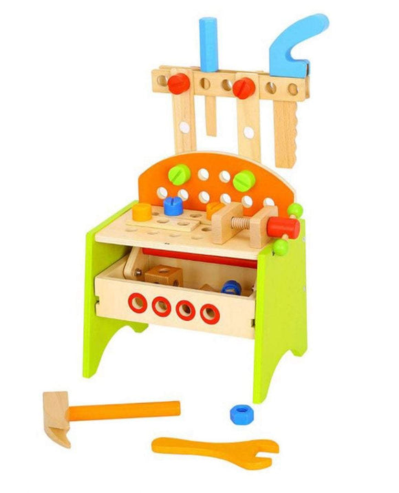 TOOKY TOY Wooden Work Bench - McGreevy's Toys Direct