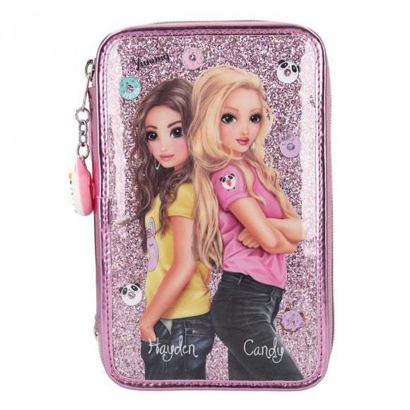 TOP MODEL Filled Triple Pencil Case Candy Cake - McGreevy's Toys Direct