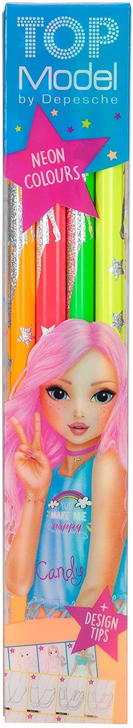 TOP Model Neon Colouring Pencils - McGreevy's Toys Direct