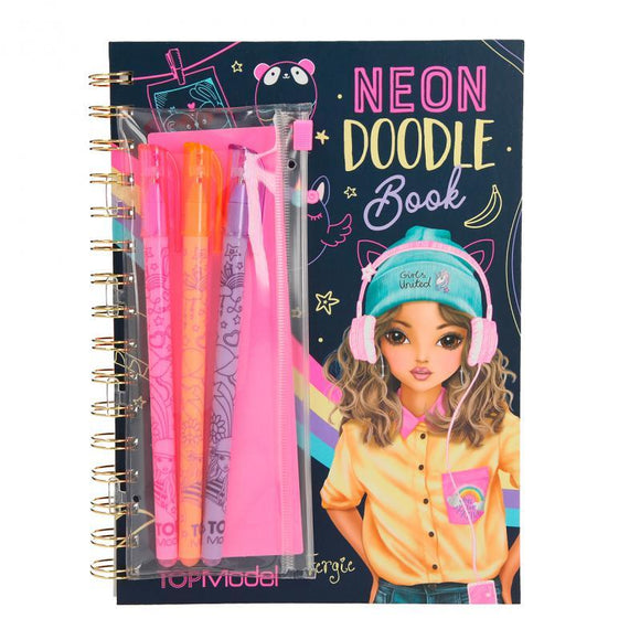 TOP Model Neon Doodle Book with Neon Pens - McGreevy's Toys Direct