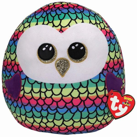 TY Squish-A-Boo 31cm Owen Owl - McGreevy's Toys Direct