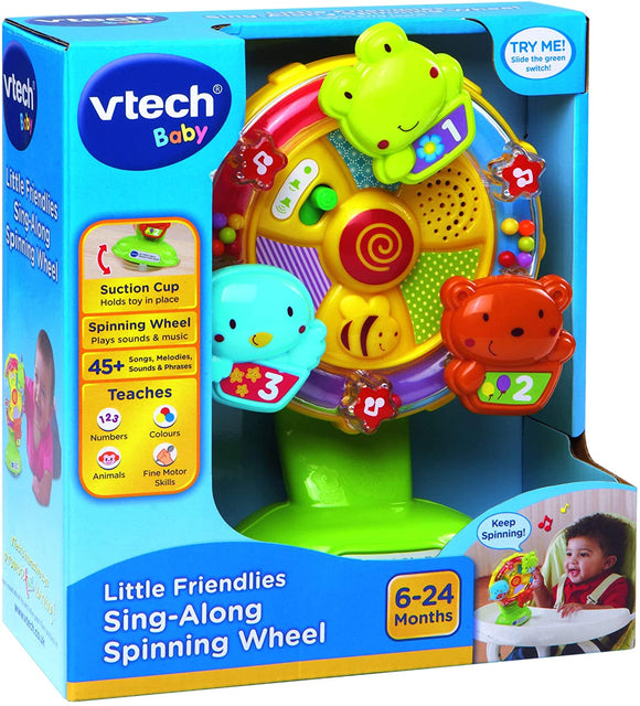 VTech Baby Little Friendlies Sing-Along Spinning Wheel - McGreevy's Toys Direct