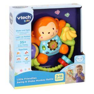 VTech Baby Little Friendlies Swing & Shake Monkey Rattle - McGreevy's Toys Direct