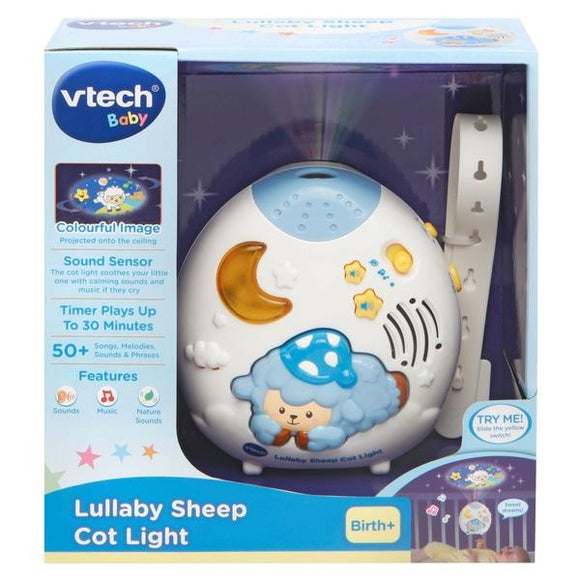 VTech Baby Lullaby Sheep Cot Light - McGreevy's Toys Direct