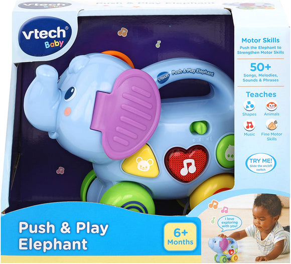 VTech Baby Push & Play Elephant - McGreevy's Toys Direct