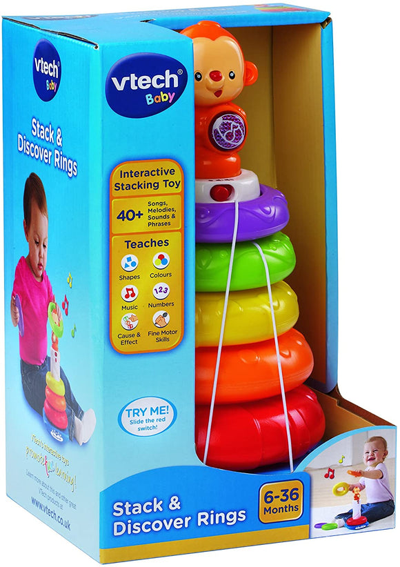 VTech Baby Stack & Discover Rings - McGreevy's Toys Direct