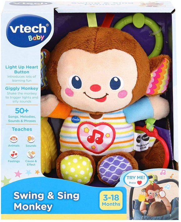 VTech Baby Swing & Sing Monkey - McGreevy's Toys Direct